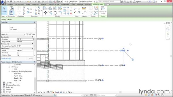 Copying and monitoring levels: Fire-Alarm Systems Design with Revit