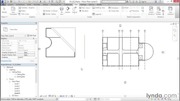 Creating plan views: Fire-Alarm Systems Design with Revit