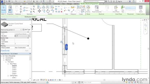Including fire-alarm control panels: Fire-Alarm Systems Design with Revit