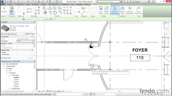 """Adding fire-alarm """"hold open"""" devices: Fire-Alarm Systems Design with Revit"""