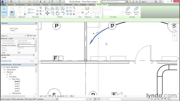 Adding in wires: Fire-Alarm Systems Design with Revit