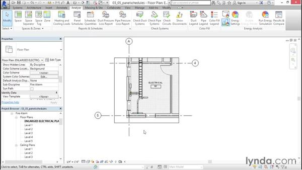 Adding panel schedules: Fire-Alarm Systems Design with Revit
