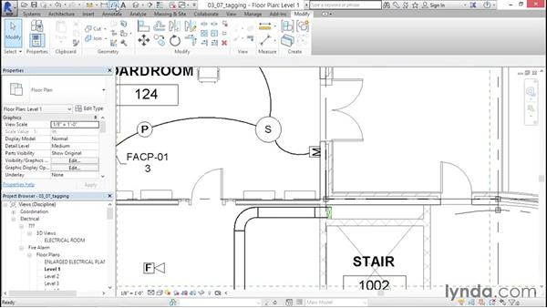 Tagging panels and devices: Fire-Alarm Systems Design with Revit