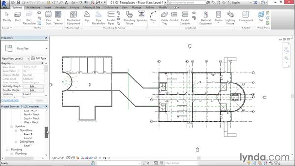 Creating view templates: Sprinkler Design with Revit