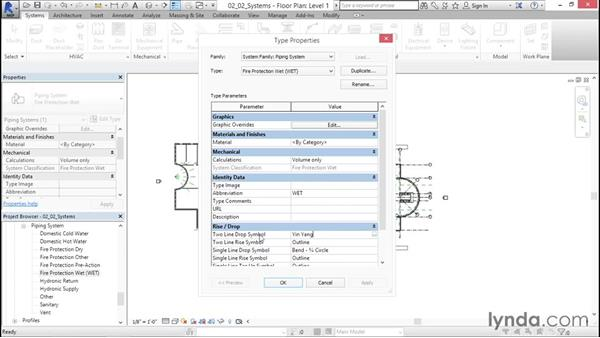 Configuring systems: Sprinkler Design with Revit