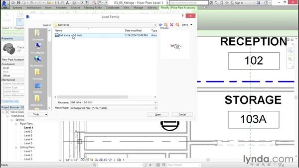 Adding equipment: Sprinkler Design with Revit