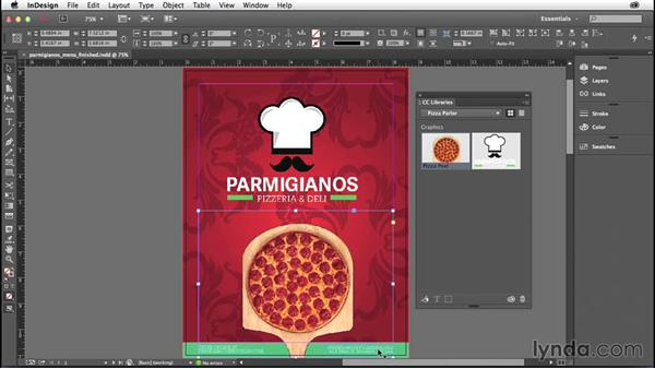 Working with Creative Cloud libraries: InDesign: 2014 Creative Cloud Updates