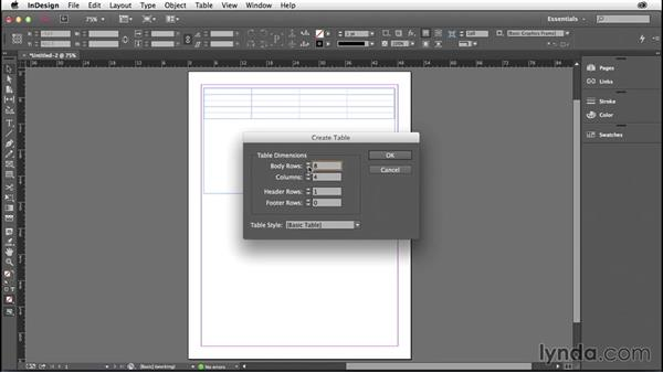 Drawing tables without text frames: InDesign: 2014 Creative Cloud Updates