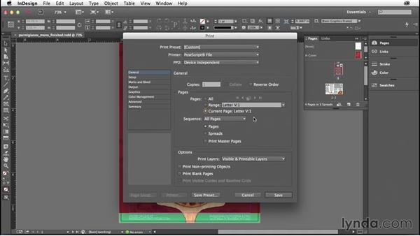 Printing the current page: InDesign: 2014 Creative Cloud Updates