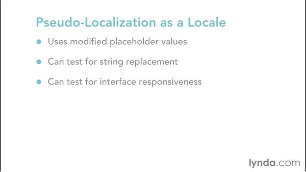 Starting with pseudolocalization: Localization for Developers