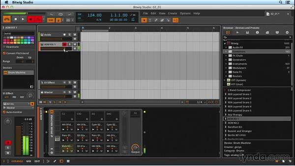 Recording MIDI: Up and Running with Bitwig Studio