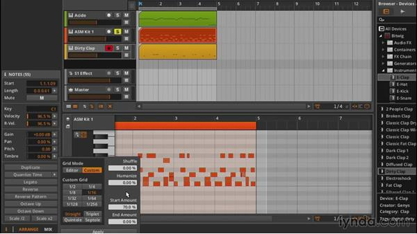Quantization: Up and Running with Bitwig Studio