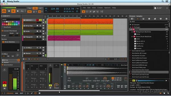 Basic sampler programming: Up and Running with Bitwig Studio