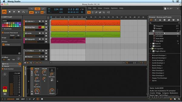 Modulation objects: Up and Running with Bitwig Studio
