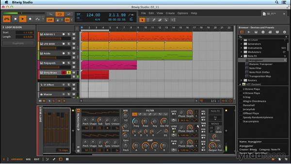 MIDI note effects: Up and Running with Bitwig Studio