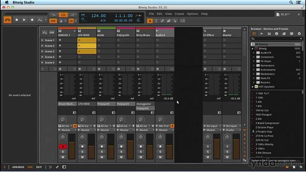 Setting up and recording audio: Up and Running with Bitwig Studio