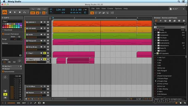 Editing audio: Up and Running with Bitwig Studio