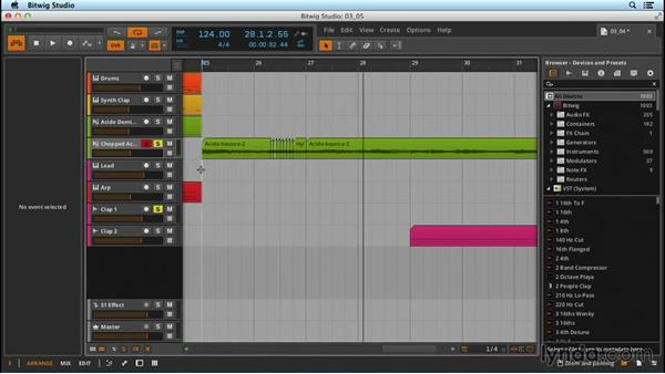 Pitch editing with audio: Up and Running with Bitwig Studio