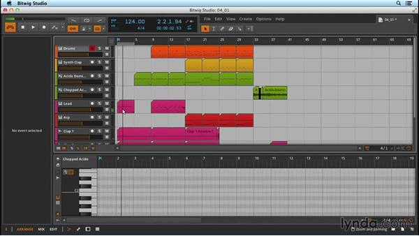 Taking a loop and making variations: Up and Running with Bitwig Studio