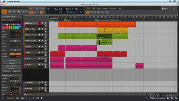Exploring structural considerations and using markers: Up and Running with Bitwig Studio