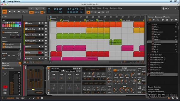 Assigning physical hardware controllers: Up and Running with Bitwig Studio