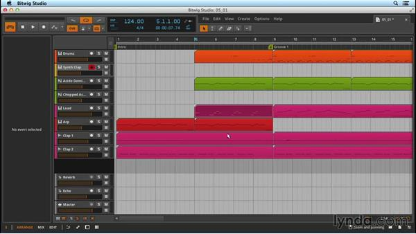 Creating scenes for live performance: Up and Running with Bitwig Studio