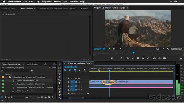 What are clip handles?: Premiere Pro Guru: Better Transitions