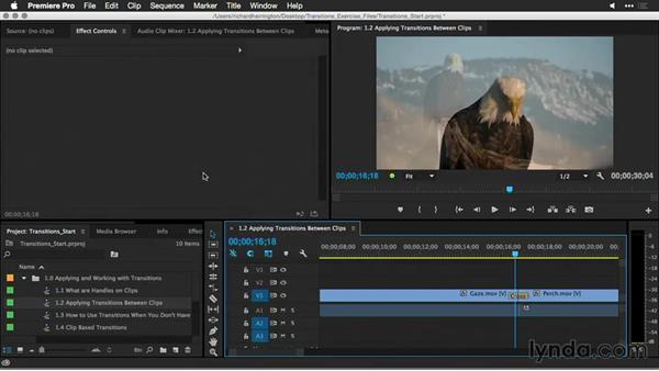 Applying transitions between clips: Premiere Pro Guru: Better Transitions