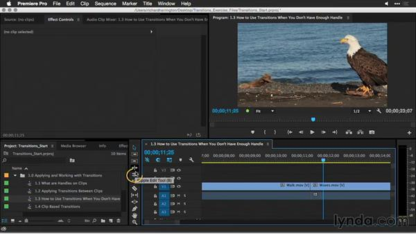 How to use transitions when you don't have enough handle: Premiere Pro Guru: Better Transitions