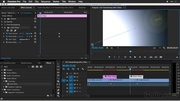 Transitioning with a flare: Premiere Pro Guru: Better Transitions