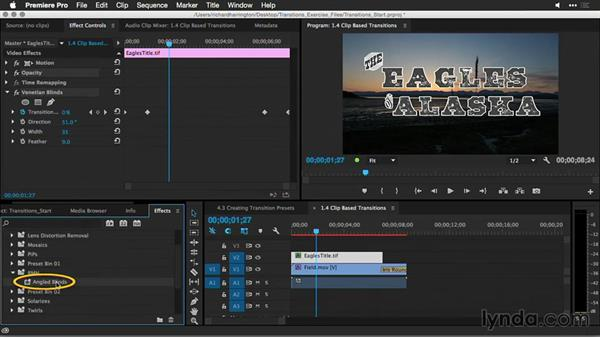 Storing transition presets: Premiere Pro Guru: Better Transitions