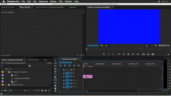 Organizing, and backing up, presets: Premiere Pro Guru: Better Transitions
