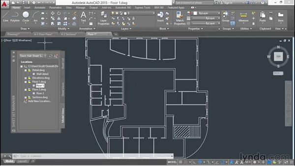 Examining the completed sheet set: Creating Sheet Sets with AutoCAD