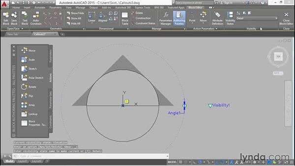 Implementing dynamic rotation behavior for the callout block: Creating Sheet Sets with AutoCAD