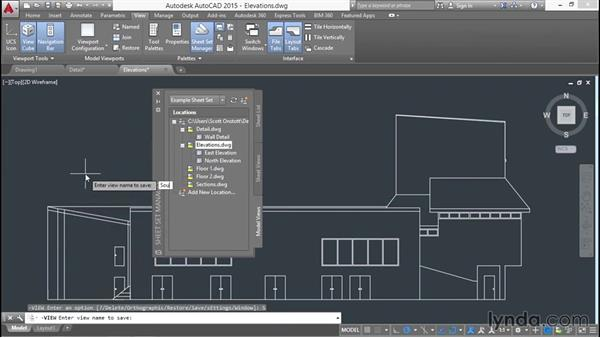 Saving model views in project drawings: Creating Sheet Sets with AutoCAD