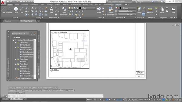 Creating a sheet with two floor plans: Creating Sheet Sets with AutoCAD