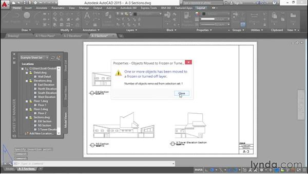 Creating a sheet with sections and detail: Creating Sheet Sets with AutoCAD