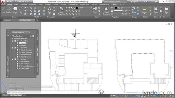 Placing elevation callouts that reference drawings on sheets: Creating Sheet Sets with AutoCAD