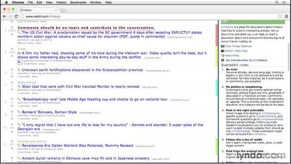 Navigating subreddits: Up and Running with reddit