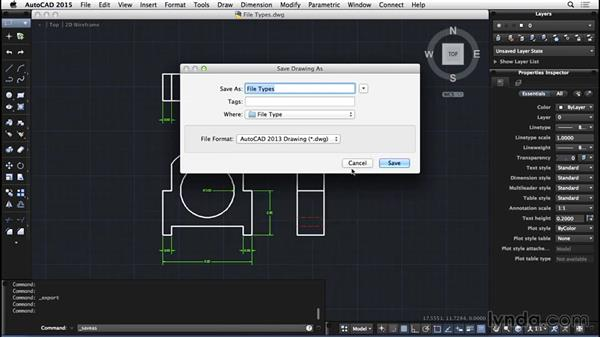 File-type basics: AutoCAD for Mac 2015 Essential Training
