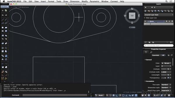 Zoom commands: AutoCAD for Mac 2015 Essential Training