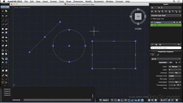 Geometry of your geometry: AutoCAD for Mac 2015 Essential Training