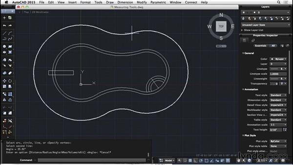 Measuring tools: AutoCAD for Mac 2015 Essential Training