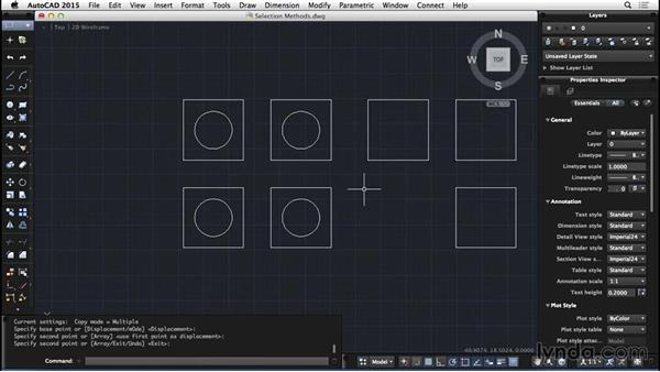 Selection methods: AutoCAD for Mac 2015 Essential Training