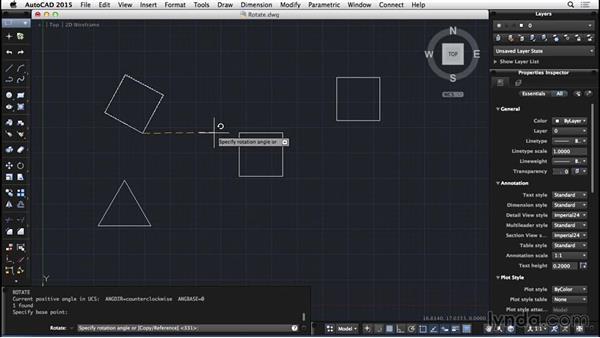 Rotate: AutoCAD for Mac 2015 Essential Training