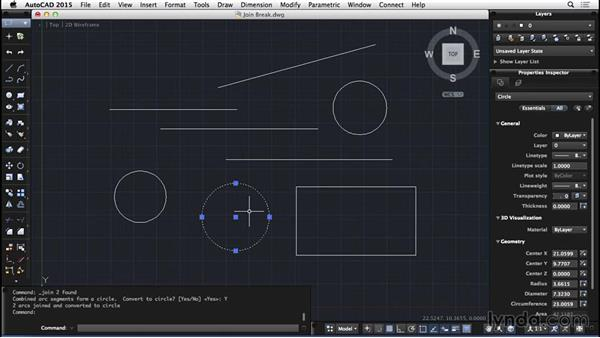 Join and Break: AutoCAD for Mac 2015 Essential Training