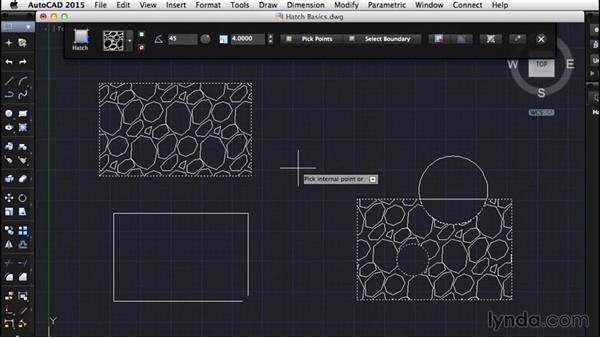Hatch basics: AutoCAD for Mac 2015 Essential Training