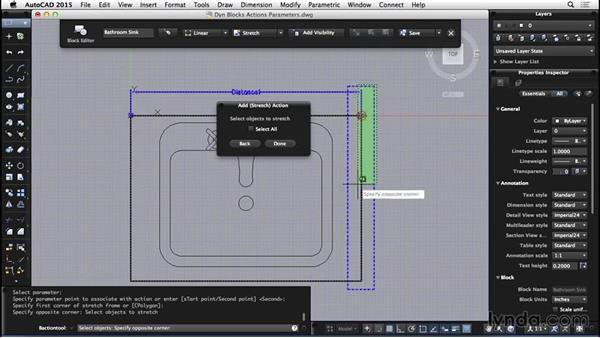Dynamic blocks: Actions and parameters: AutoCAD for Mac 2015 Essential Training