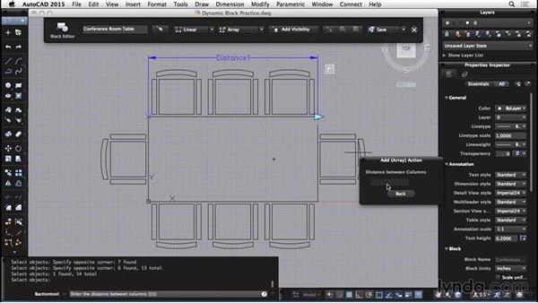Dynamic blocks practice: AutoCAD for Mac 2015 Essential Training