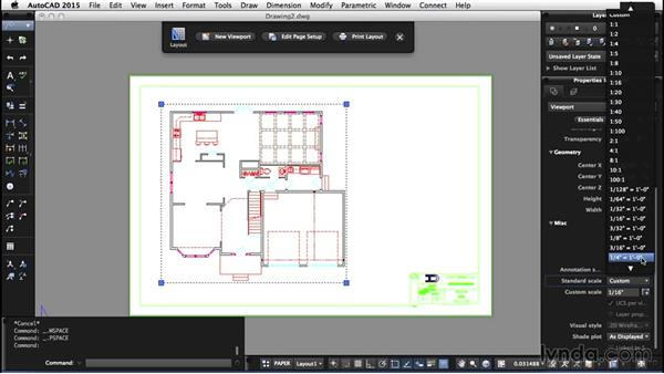 Understanding paper space/model space: AutoCAD for Mac 2015 Essential Training